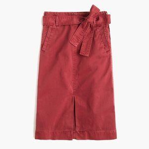 J.Crew like new pretty rust chino tie waist skirt